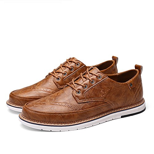 Bianco Lace Un lavoro Primavera PU formale Traspirante Shoe leggero Pure Pure uomo Estate Business Scarpe Scarpe Casual Business XUE da Grey Pure up Black Brown xqSvTw