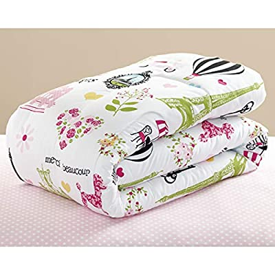 Mainstays Kids Paris Reversible Solid Pink Full Bedding Comforter for Girls (7 Piece in a Bag): Home & Kitchen