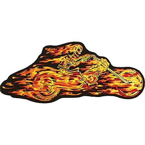 Flaming Skeleton (Flaming Skeleton Rider Large Motorcycle Vest Patch)