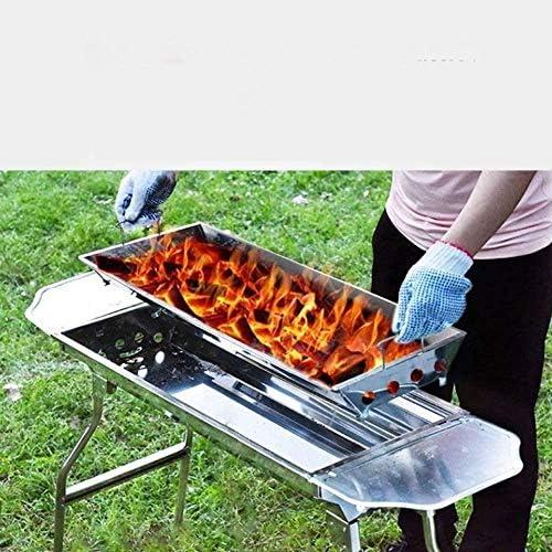 Barbecue HZY Conception Simple, Charbon Pliant en Acier Inoxydable Grill, Portable, adapté à la Maison ou en Plein air, 93.5cm × 70cm × 73cm