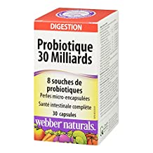 Webber Naturals Probiotic 30 Billion, 8 Probiotic Strains, 30-Count