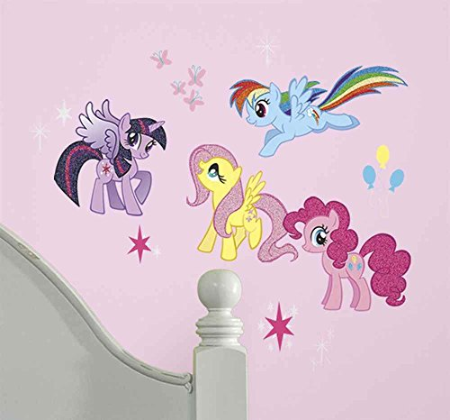 RoomMates RMK2498SCS My Little Pony Peel and Stick Wall (My Little Pony Bedroom)