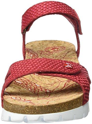 Panama Jack Sulia Snake, Sandalias con Cuña para Mujer Rojo (Red)