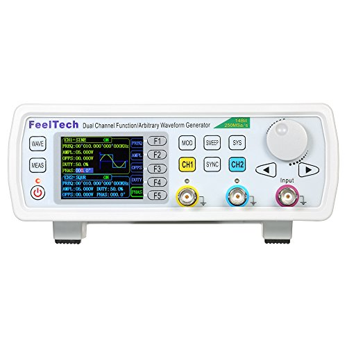 (Baugger DDS Signal Generator Counter, High Precision Digital Dual-channel Function Signal/Arbitrary Generator 250MSa/s 819214bits Frequency Meter VCO Burst AM/PM/FM/ASK/FSK/PSK Modulation)