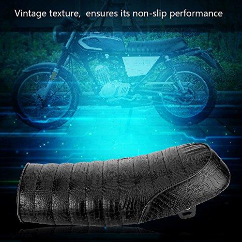 Qiilu Universal Motorcycle Modification PU Leather Vintage Cafe Racer Seat Flat/Hump Saddle Cushion (C) by Qiilu (Image #3)