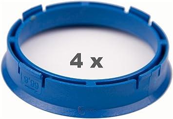 4 X Set anelli di centraggio cerchi in lega 73,0 mm X 67,1 mm Arancione