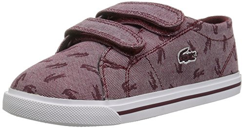 Lacoste Baby Riberac Sneaker, Red Canvas Pattern, 10. M US ()