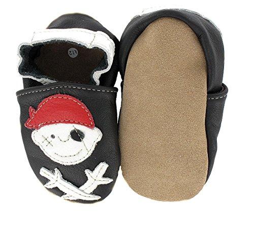 HOBEA HOBEATractor - Zapatos de Bebé Para BEBÉs, Unisex Pirat Jack schwarz