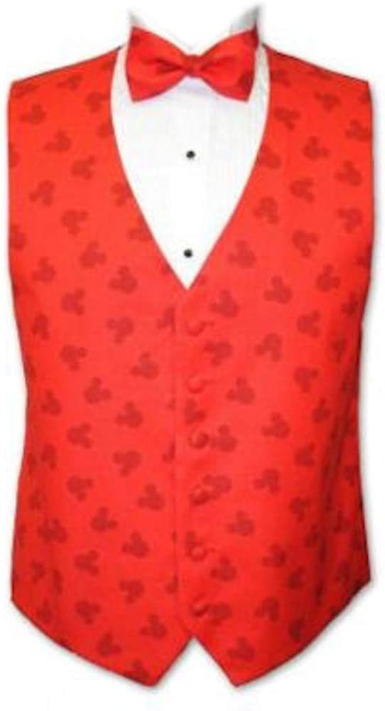 Mickey Mouse Red Silhouette Tuxedo Vest and Bow Tie 51yovYN4X6L