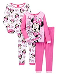 Minnie Mouse Teddy Bear So Cute Baby 4-Piece Cotton Pink Pajama Set