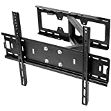 Sunydeal TV Wall Mount Bracket for most 26 - 65 Inch LED, LCD, OLED and Plasma Flat Screen TV, with Full Motion Swivel Articulating Dual Arms, up to VESA 400x400mm and 120 LBS with Tilting