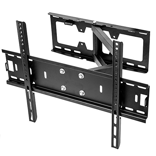 Sunydeal TV Wall Mount Bracket for most 26-65 Inch LED, LCD, OLED and Plasma Flat Screen TV, with Full Motion Swivel Articulating Dual Arms, up to VESA 400x400mm and 120 LBS with Tilting
