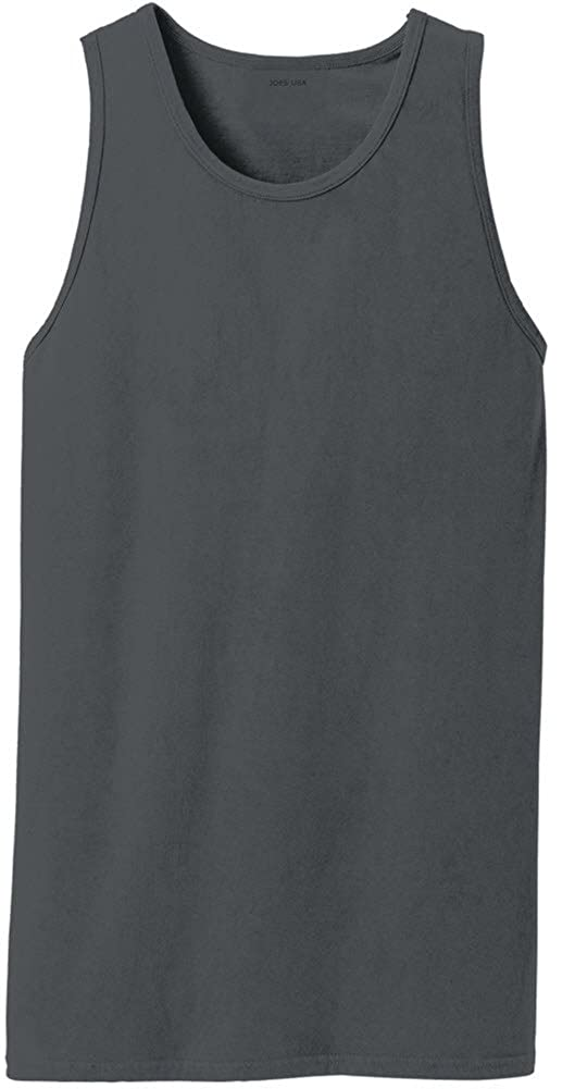 Joes USA Pigment-Dyed Tank Tops in 12 Colors Sizes S-4XL