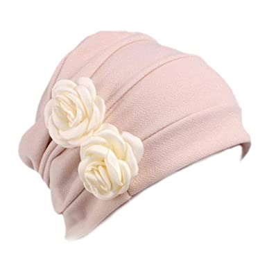 d2ae1e341ba Boboder Women s Chemo Cap Soft Night Sleep Turban Headwear Beanie Hat for  Cancer Patients Beige  Amazon.co.uk  Clothing