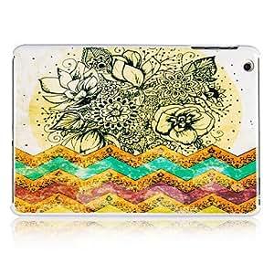 Patrón Mar Flores de plástico de nuevo caso para el iPad Mini