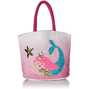 Mud Pie Kids Unicorn Sequin Girls Pink Tote Bag