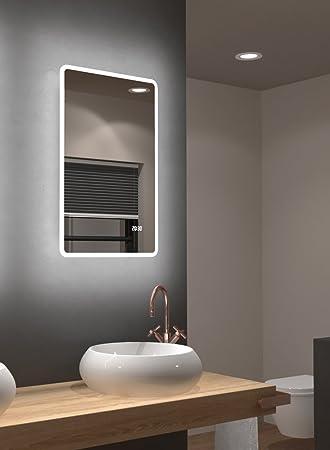 Das Badezimmer | Led Spiegel Talos Sun Warmweiss Beleuchteter Spiegel Fur Das