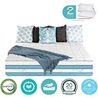 12 Inch Queen Size Gel Memory Foam COOL Mattress Medium - Sale - with FREE 2 PILLOWS