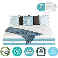 12 Inch Queen Size Gel Memory Foam COOL Mattress Medium - Sale - with FREE 2 PILLOWS