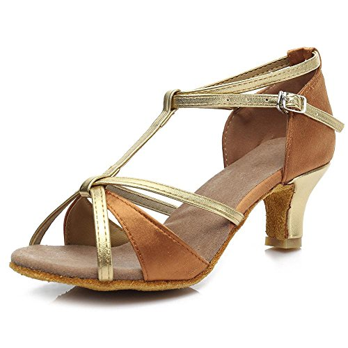 et talon filles 5cm Les tango ballroom salsa Brown danse latine women's 5cm de chaussures YFF 7cm pASwPqxw