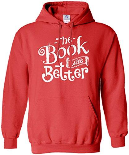 Threadrock Women's The Book was Better Hoodie Sweatshirt XL Red