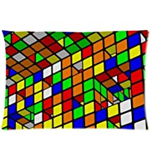 Magic Cube,Rubik's cube,cube puzzle One Side Pillowcase,pillowcover 20 X 30 Inch, Birthday/Christmas/Thanksgiving gift