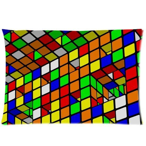 Magic Cube,Rubik's cube,cube puzzle One Side Pillowcase,pillowcover 20 X 30 Inch, Birthday/Christmas/Thanksgiving gift Rubik's cube Rubik's cube Pillow Case