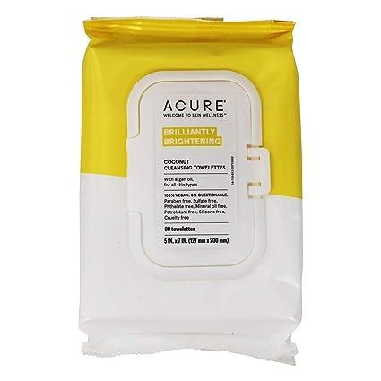 ACURE - limpieza toallitas coco + aceite de argán - 30 Towelette(s)