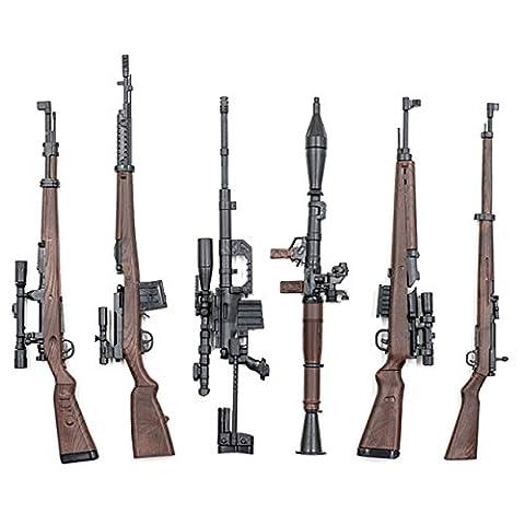 1/6 scale rifle collection diorama figure (six models) Gewehr 43 SVT-40 RPG-7, etc. - Gun Sniper Set