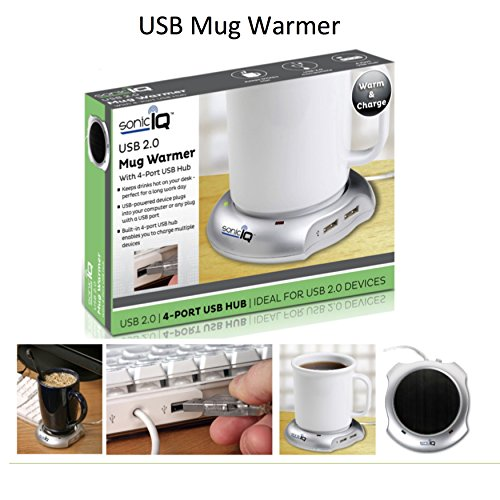 [해외]4 포트 USB 허브가있는 USB 2.0 머그 컵/USB 2.0 Mug Warmer with 4-Port USB Hub