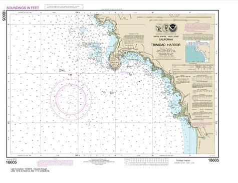 Paradise Cay Publications NOAA Chart 18605: Trinidad Harbor 18.1 x 23.5 (TRADITIONAL) ()