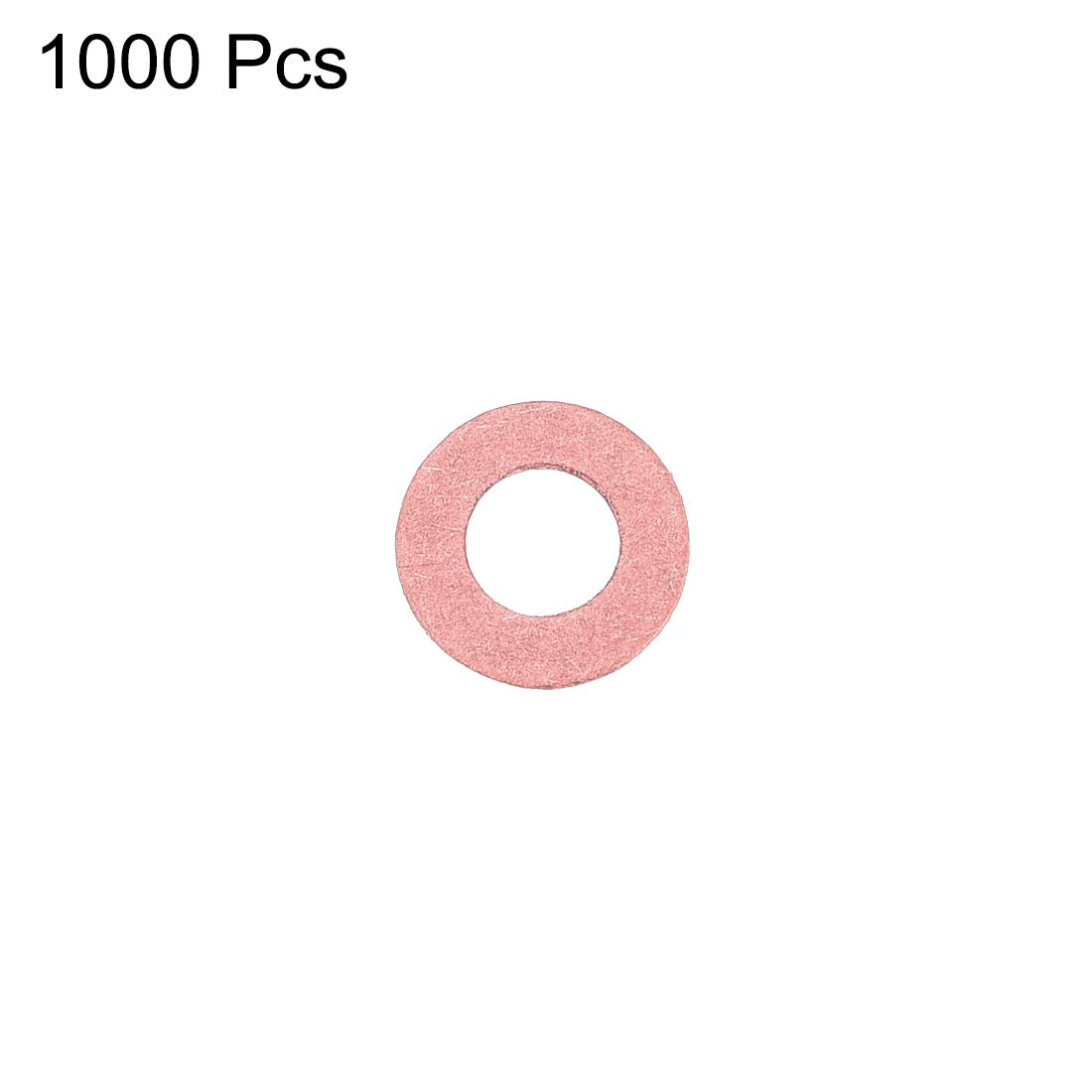 Insulation Gasket for Motherboard 1000Pcs 6mm x 12mm x 0.8mm Red Vulcanized Fiber Washer uxcell Insulating Washer