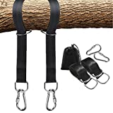 The Lazy Living Set of 2 Tree Swing Strap Hanging Kit, Holds Max 2200 LB, With Heavy Duty Safety Lock Carabiners, Carrying Bag for Hammocks Tires Disc Swings, Lightweight, Easy Setup (10 ft)