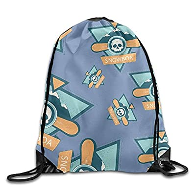 Funny Skiing Ski Unisex Waterproof Backpack Gym Drawstring Bags. free shipping