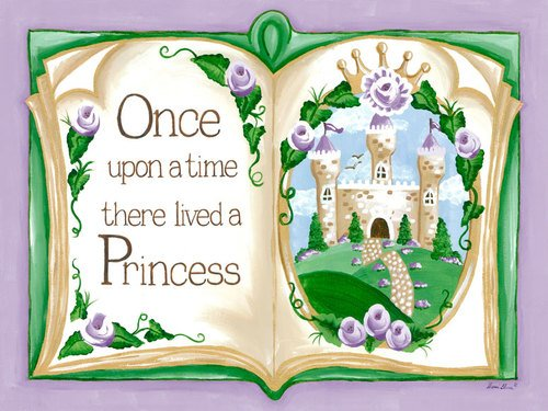 Oopsy Daisy Canvas Wall Art Once Upon a Time Storybook Lavender by Sherri Blum, 24 by 18-Inch
