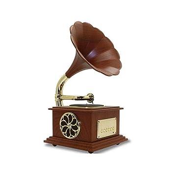 TBTUA Fonógrafo Bluetooth 4.2 Tocadiscos música dinámica de ...