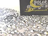 800 Diamond Table Scatter Confetti 4 Carat/ 10mm Clear / Silver - Diamond Theme Party Supplies - Wedding Bridal Shower Party Decorations by SolarEscape