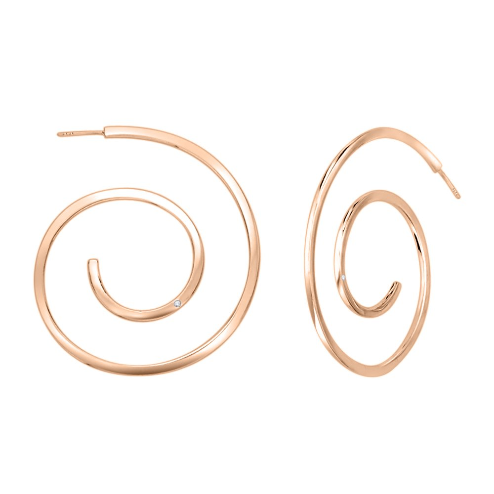KATARINA Diamond Accent Loop Fashion Earrings in Gold or Silver G-H, VS2-SI1