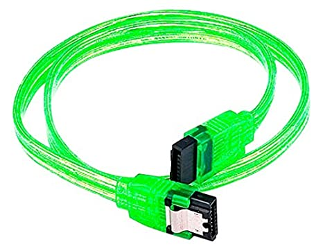 CNE567679 Black 10 Pack 18inch SATA 6Gbps Cable w//Locking Latch