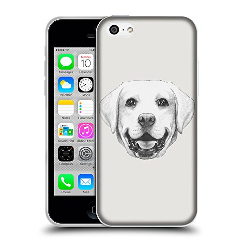 GoGoMobile Coque de Protection TPU Silicone Case pour // Q05370631 Portrait labrador Platine // Apple iPhone 5C
