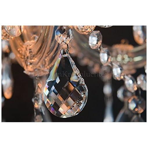 Lampadario Maria Theresa 6 punti luce oro Ø60 cm cristallo