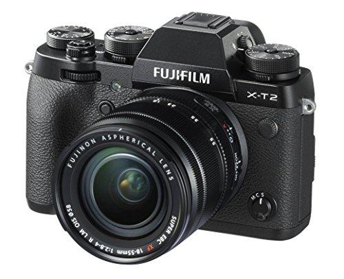 Fujifilm X-T2 Mirrorless Digital Camera with 18-55mm F2.8-4.0 R LM OIS Lens (Certified Refurbished)