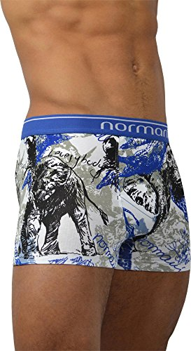 4 x Herren Unterwäsche Boxershorts original normani® Exclusive Farbe Wild Animals Größe XXL