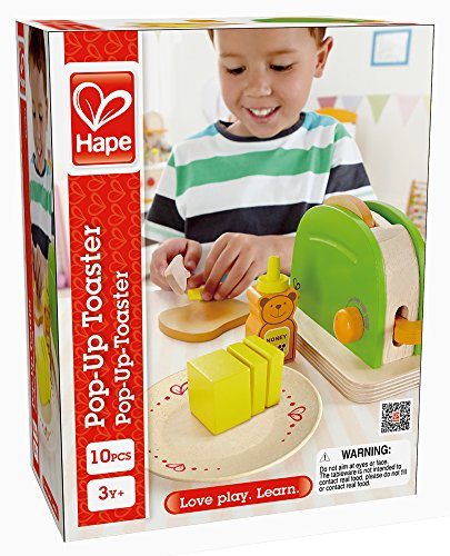 Hape Pop Up Toaster Wooden Play Kitchen Set With