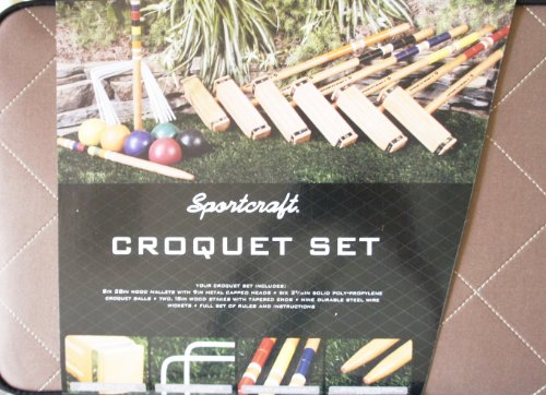 Sportcraft 6 Player Croquet Set by Sportscraft