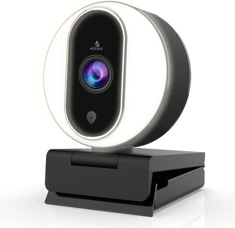 NexiGo 1080P Webcam with Ring Light