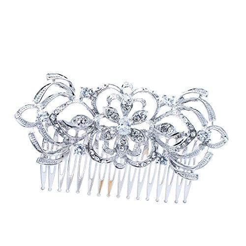 Pin Curl Flapper Red Wig (PROHAIR Flower Rhinestone Crystals Hair Comb Women Hairpins Bridal Wedding Hair Accessories)