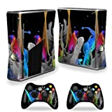 MightySkins Protective Vinyl Skin Decal Cover for Microsoft Xbox 360 S Slim + 2 Controller skins wrap sticker skins Color Splash Review