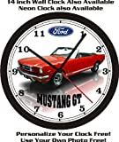 mustang car clock - 1965 FORD MUSTANG GT CONV. WALL CLOCK-FREE USA SHIP!