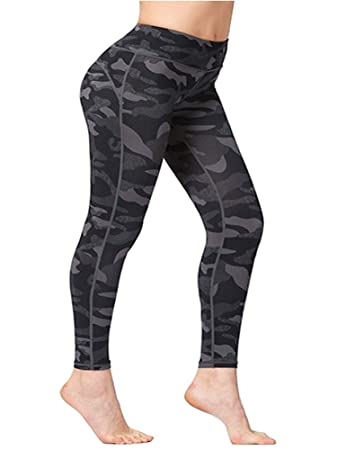 1e846f093f22f9 Ancia Womens Active Workout Capri Leggings Fitness Tights Pants Tracksuits  ,Small,Army